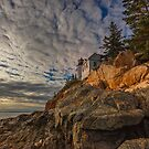 Bass Harbor Head Lighthouse in the late afternoon by charlie murray