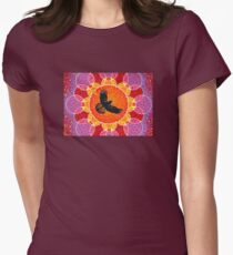 Flight of the Black Cockatoo Womens Fitted T-Shirt