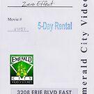 Emerald City Video 5-Day Rental: ZERO EFFECT by Russ Burlingame