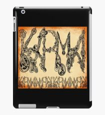 Karma Word Art Orange iPad Case/Skin