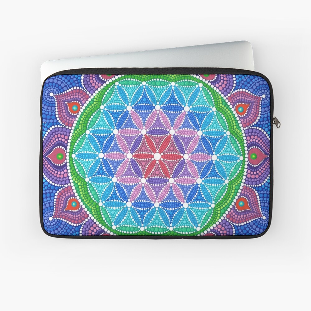 Lotus Flower of Life Laptop Sleeve