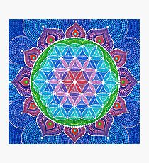 Lotus Flower of Life Photographic Print