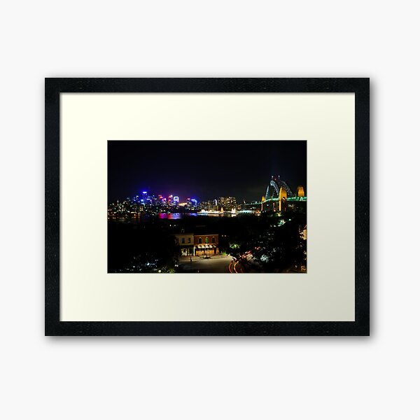 View From Observatory Hill Framed Art Print