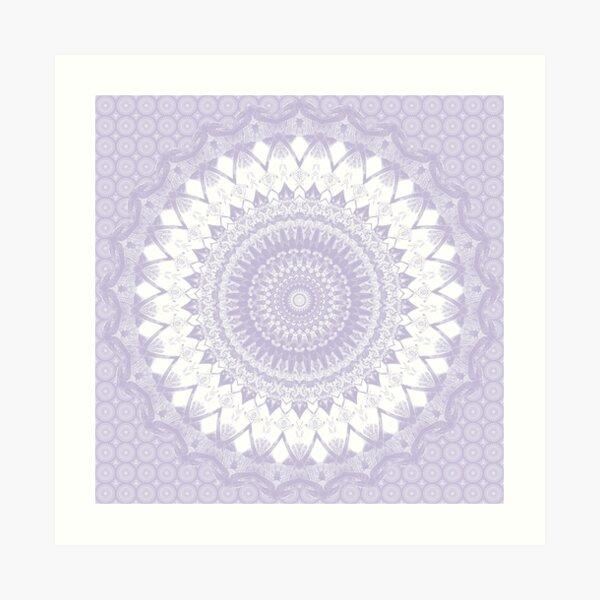 Boho Pastel Purple Mandala Art Print