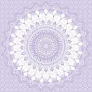 Boho Pastel Purple Mandala by Kelly Dietrich