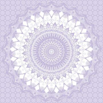 Boho Pastel Purple Mandala by kellydietrich