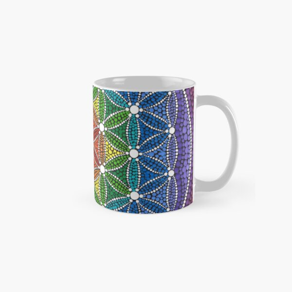 Rainbow Flower of Life Classic Mug