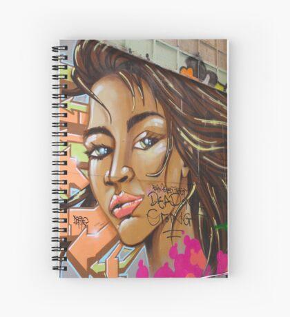 Girl 2 Graffitti Spiral Notebook