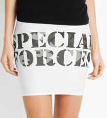 Special Forces Special Forces Elite Military Soldier Bundeswehr Camouflage Gift Mini Skirt