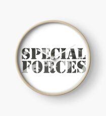 Special Forces Special Forces Elite Military Soldier Bundeswehr Camouflage Gift Clock