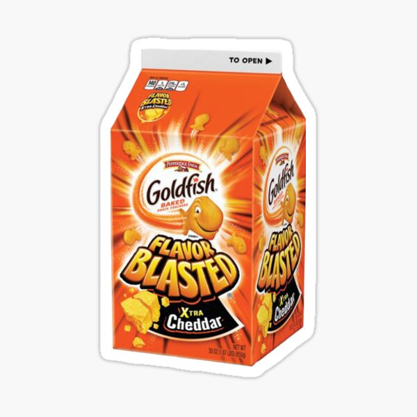 Flavor Blasted Goldfish Sticker