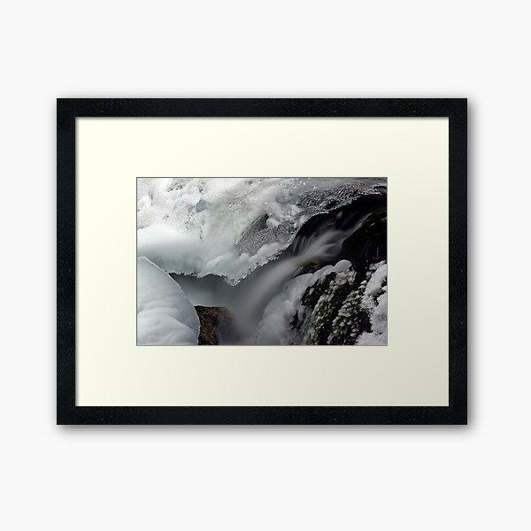 Under the Ice Framed Art Print