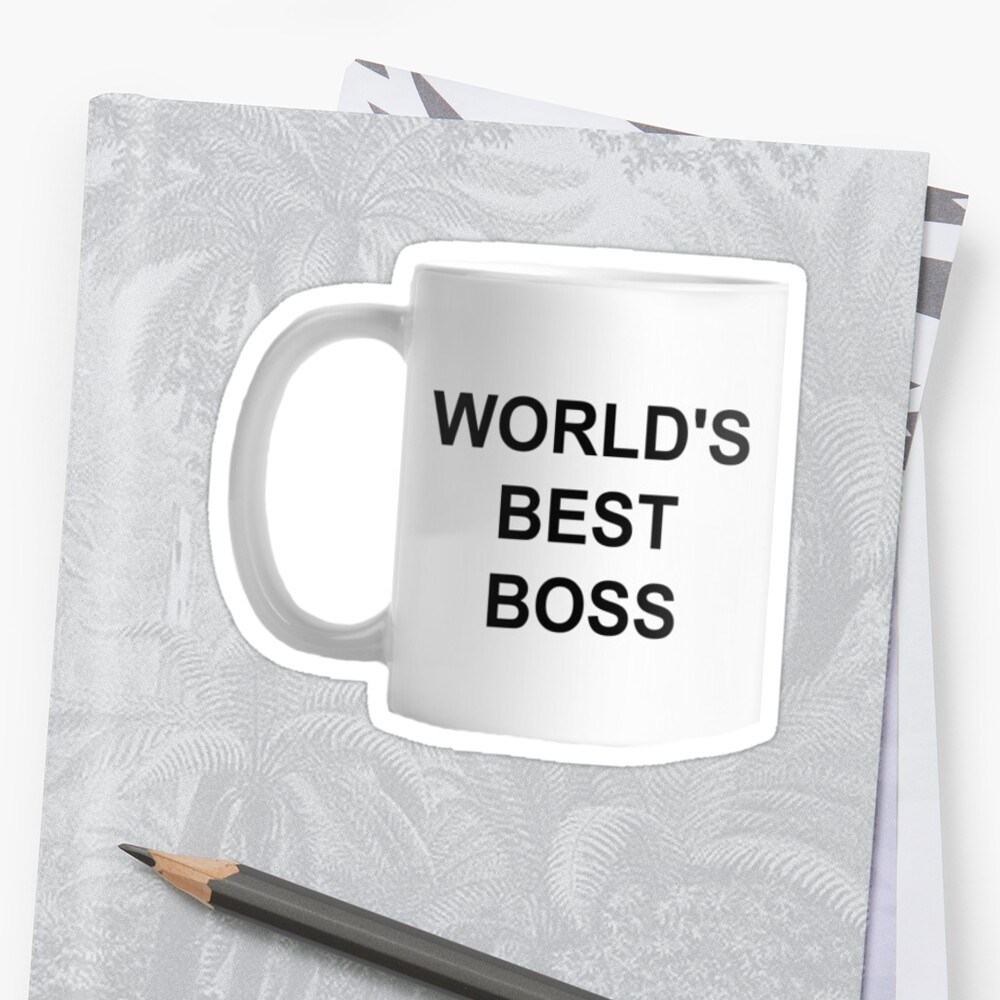 El mejor jefe del mundo Pegatina