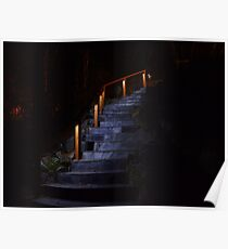Slate Stairs with LED Lighting Poster