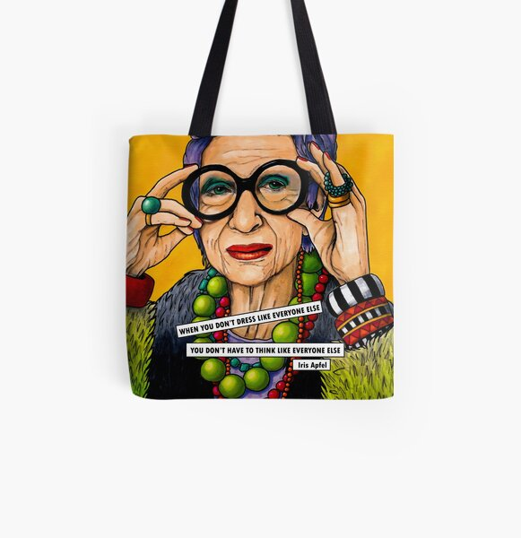 Iris Apfel All Over Print Tote Bag