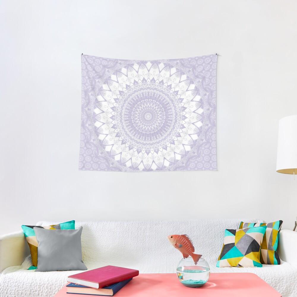 Boho Pastel Purple Mandala Tapestry