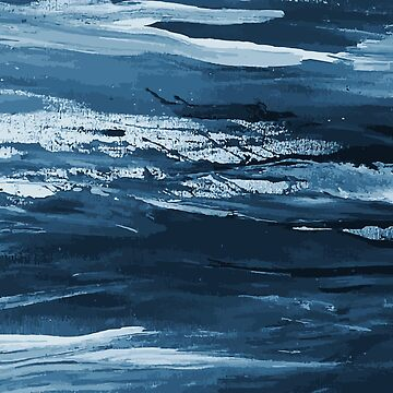 Abstract Painting Texture Sea Waves by SONICYI