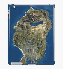 GTA V map iPad Case/Skin
