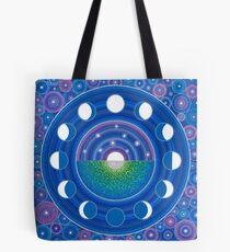 Moon Phase Mandala Tote Bag
