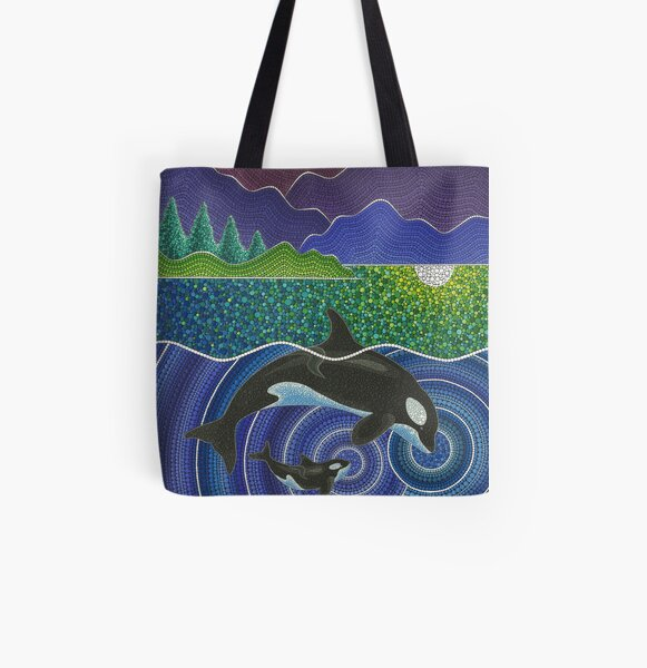Orca Sonic Love All Over Print Tote Bag