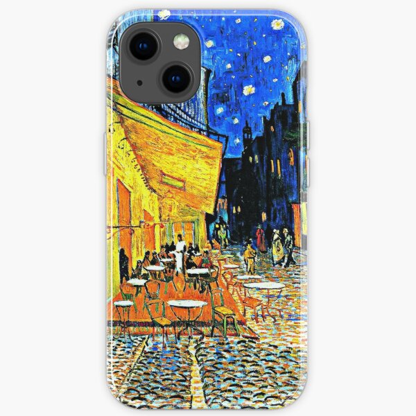 Van Gogh - Cafe Terrace, Place du Forum, Arles iPhone Soft Case