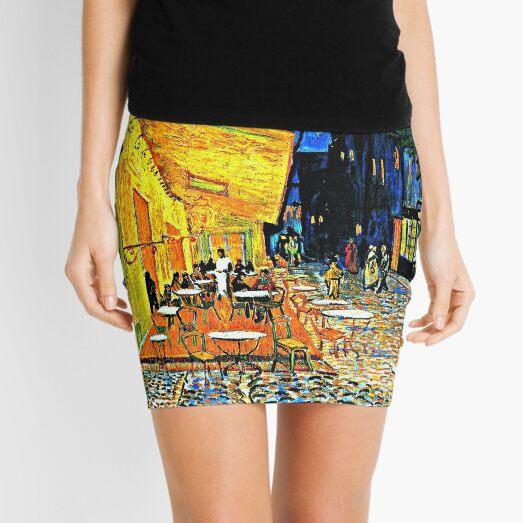 Van Gogh - Cafe Terrace, Place du Forum, Arles Mini Skirt