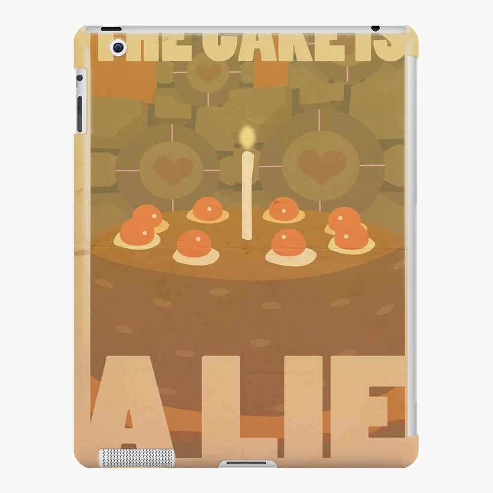 Portal Propaganda Poster - Kuchen iPad-Hülle & Skin