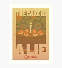Portal Propaganda Poster - Cake Art Print