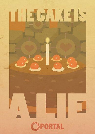 Portal Propaganda Poster - Kuchen von jazzieart