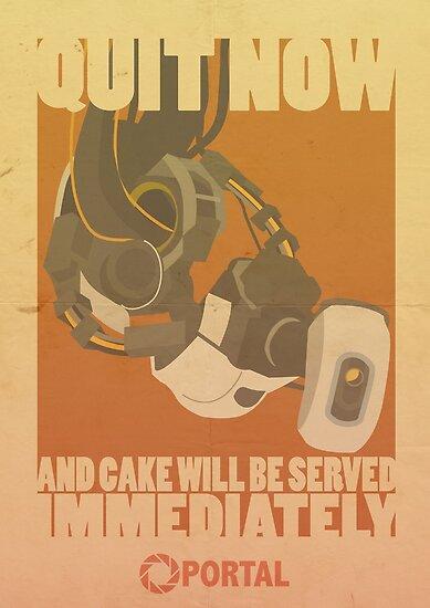 Portal-Propaganda-Plakat - GLADOS von jazzieart