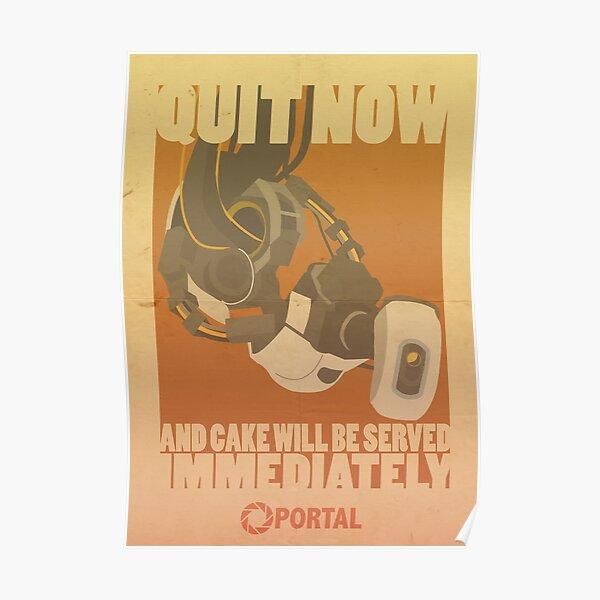 Portal Propaganda Poster - GLaDOS Poster