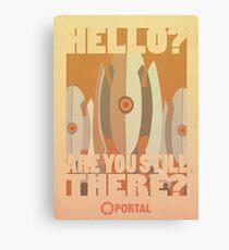 Portal Propaganda Poster - Turrets Canvas Print