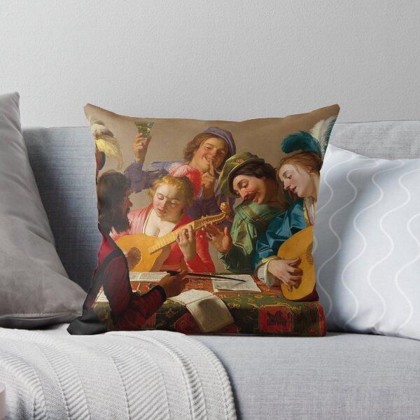Gerard van Honthorst-The Concert Throw Pillow