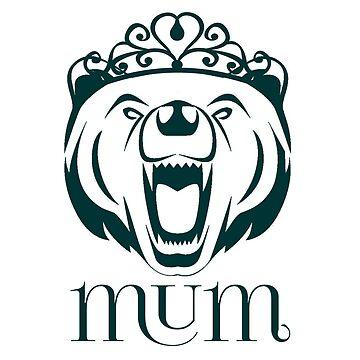 Roaring Mum Bear by yaney85