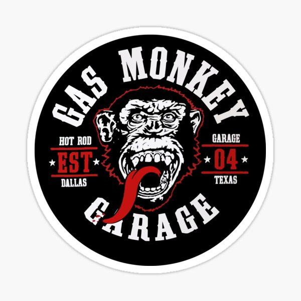 Round Monkey Sticker