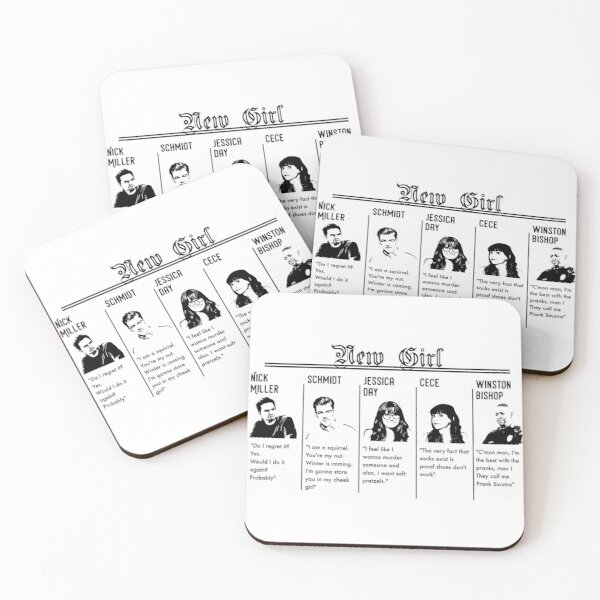 New Girl Coasters (Set of 4)