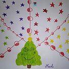 « Sapin de Noël et guirlandes étoiles » par VataYellowSeed