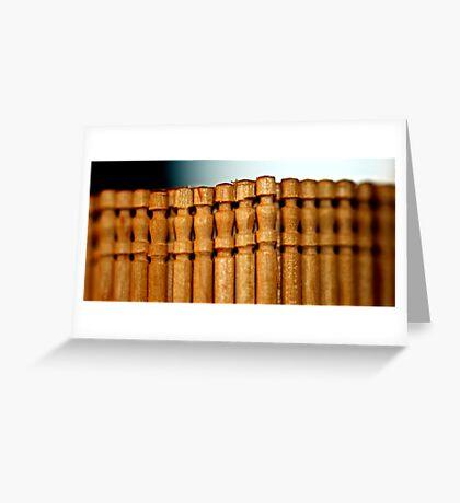 Toothpicks Greeting Card
