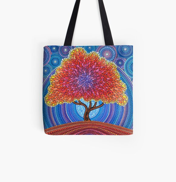 Autumn Blossoms All Over Print Tote Bag