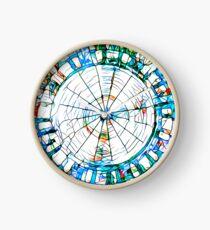 Glass stain mosaic 5 - circle Clock
