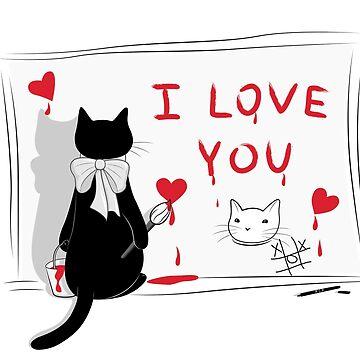 Cat Love Paint by runcatrun
