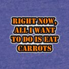 Right Now, All I Want To Do Is Eat Carrots by cmmei