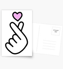 heart hand Postcards