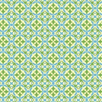 Blue and green mosaic by Frogmuse