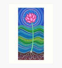 Lotus Growing Art Print