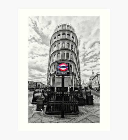 Mansion House Tube Station Art Print