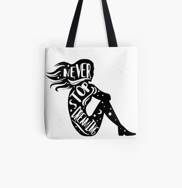 Never stop dreaming All Over Print Tote Bag