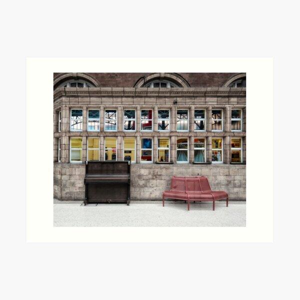 Marylebone Tube Station Art Print