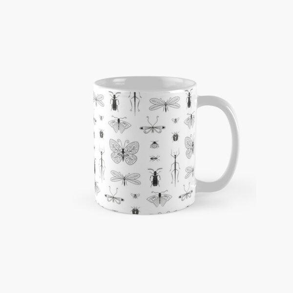 Motif insecte noir et blanc Mug classique