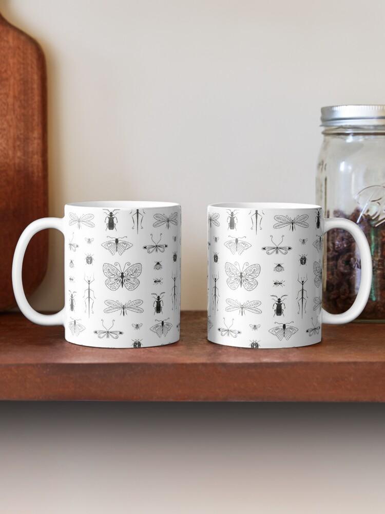 Mug ''Motif insecte noir et blanc': autre vue